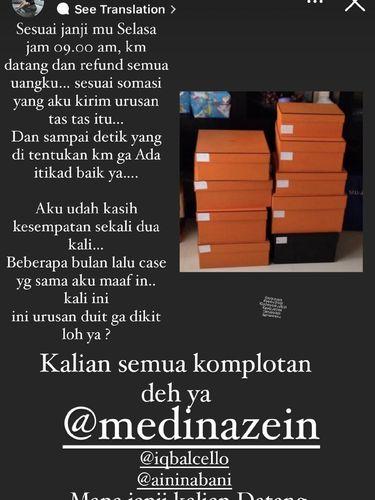 Postingan sosialita dan pengusaha asal Surabaya, Uci Flow Dea.