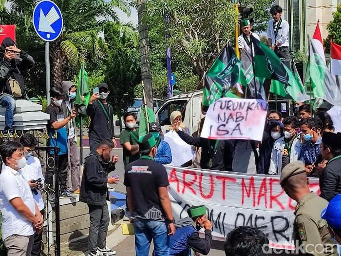 Aksi demo di Ciamis