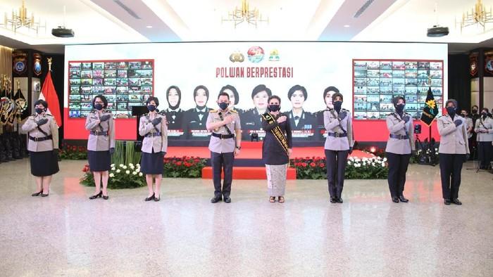 Kapolri Jenderal Listyo Sigit Prabwo saat Hari Jadi Polwan ke-73