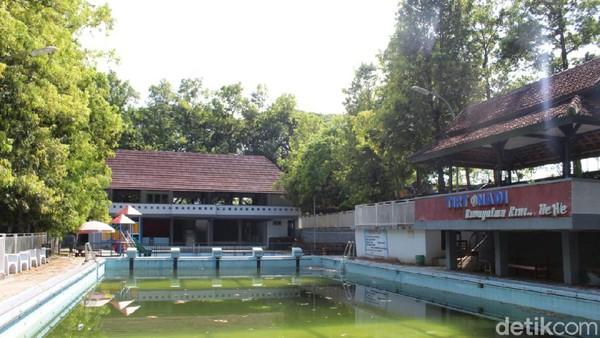 Oleh sebab itu, air di kolam sengaja tak dikuras hingga berwarna hijau.