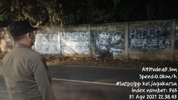 Mural mirip Jokowi di Kebagusan, Jagakarsa, Jaksel (dok.istimewa)