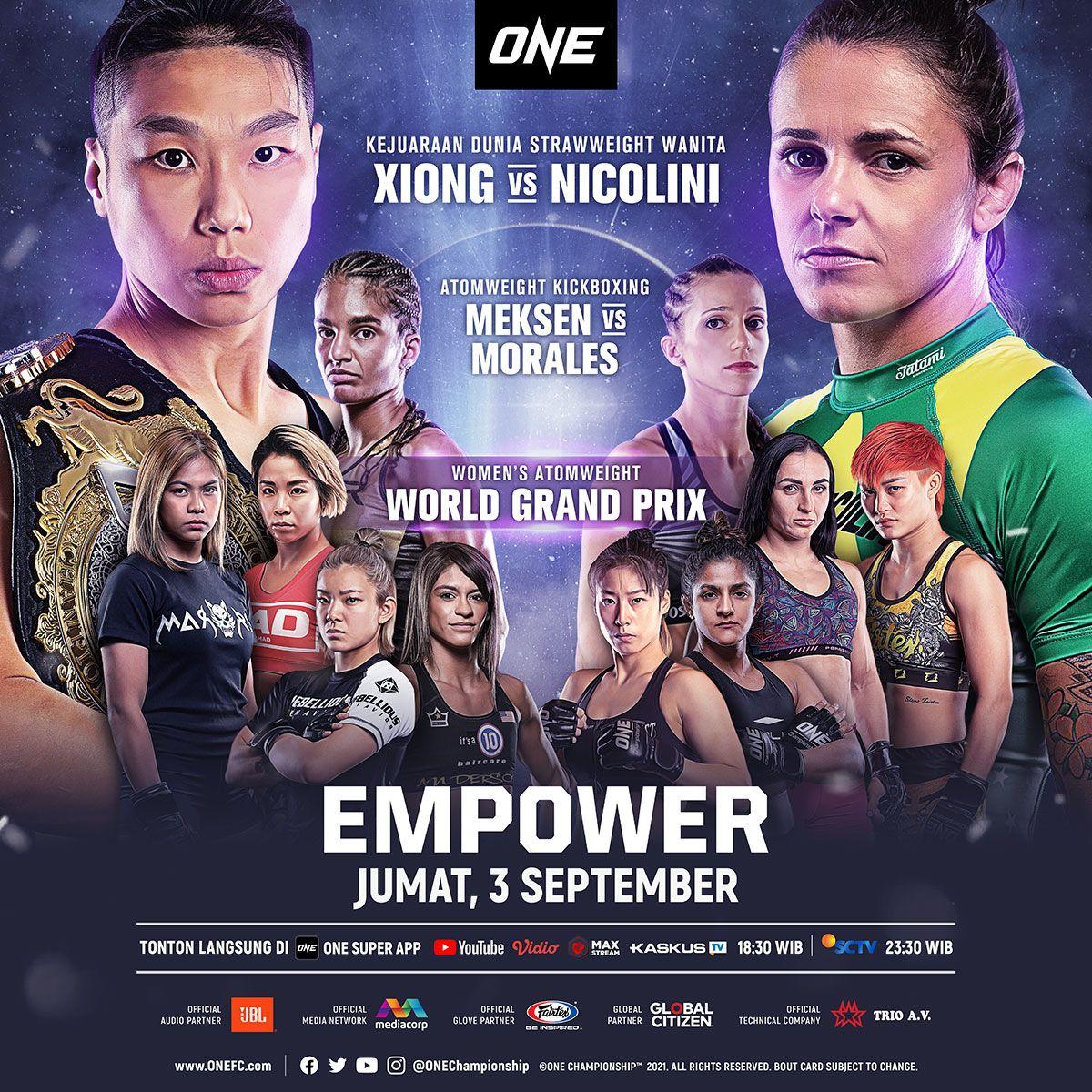 ONE Championship EMPOWER, duel khusus para petarung wanita