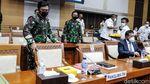 Panglima TNI, Wamenhan dan DPR Rapat Bahas Anggaran