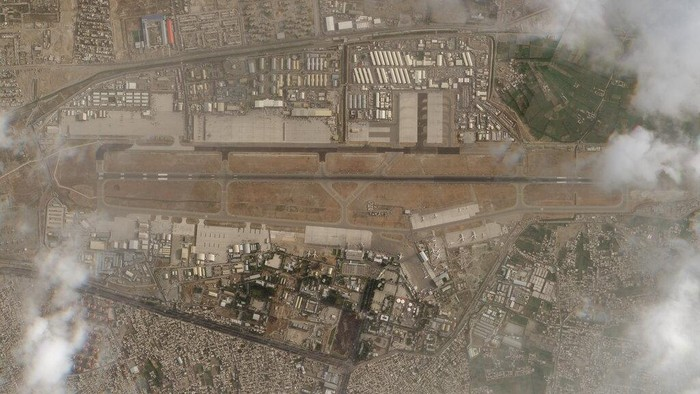 In this satellite photo taken by Planet Labs Inc., Kabul's international airport is seen after the U.S. withdrawal from Afghanistan on Tuesday, Aug. 31, 2021. The Taliban triumphantly marched into Kabul's international airport on Tuesday, hours after the final U.S. troop withdrawal that ended America's longest war. Standing on the tarmac, Taliban leaders pledged to secure the country, quickly reopen the airport and grant amnesty to former opponents. (Planet Labs Inc. via AP)