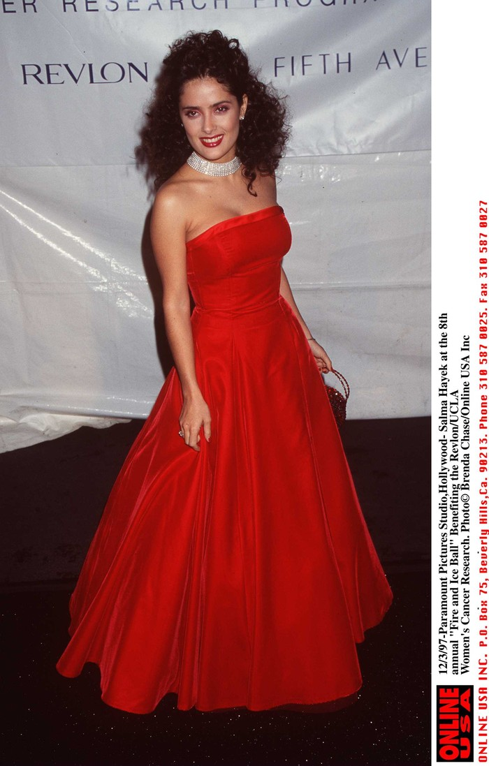 12/3/97- Paramount Pictures Studio,Hollywood-Salma Hayek at the 8th annual