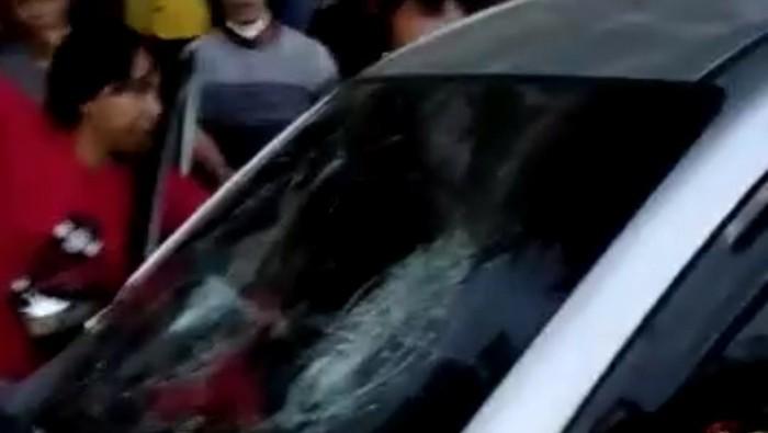 Tangkapan layar video viral tabrak lari di Garut