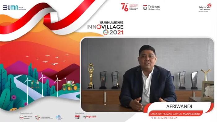 Direktur Human Capital Management Telkom Afriwandi dalam Grand Launching InnoVillage 2021