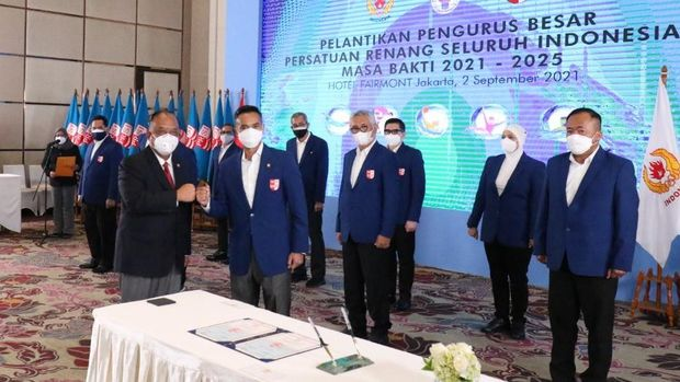 Pelantikan PB PRSI periode 2021-2025.