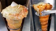 Unik! Ada Pizza Berbentuk Cone Es Krim