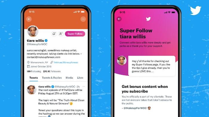 Twitter luncurkan fitur Super Follows di Amerika Serikat