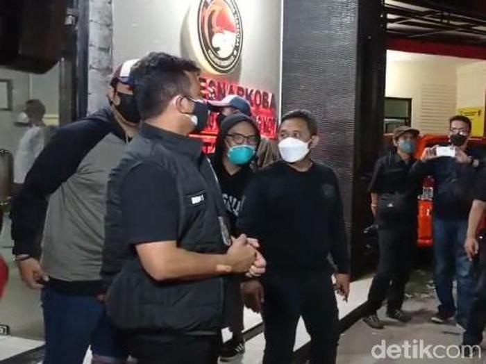 Coki Pardede di Polres Jakarta Selatan
