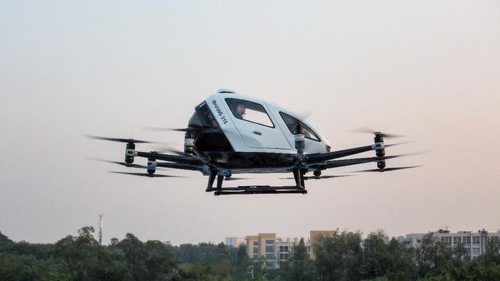 Autonomous Aerial Vehicle (AAV) EHang 216.