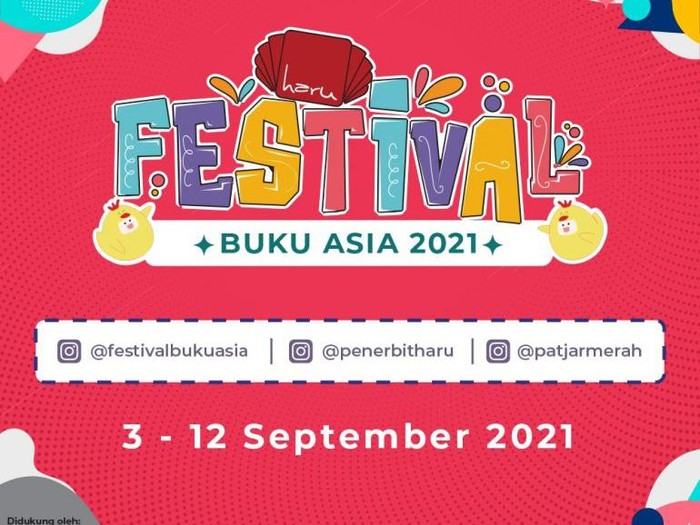 Festival Buku Asia 2021 Digelar 3-12 September 2021
