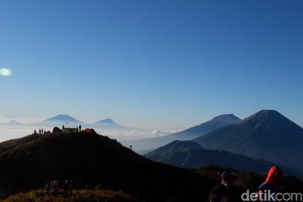 Gunung Prau jadi destinasi wisata pilihan selain dataran tinggi Dieng.(Uje Hartono/detikcom)