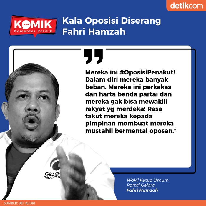 Kala Oposisi Diserang Fahri Hamzah (Tim Infografis)
