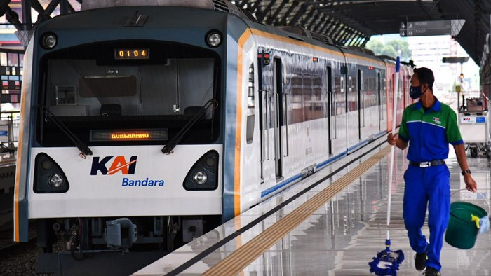 Kereta Bandara Kualanamu Medan beroperasi kembali. Kereta bandara telah berhenti operasi 1,5 bulan untuk mendukung pencegahan penyebaran COVID-19.