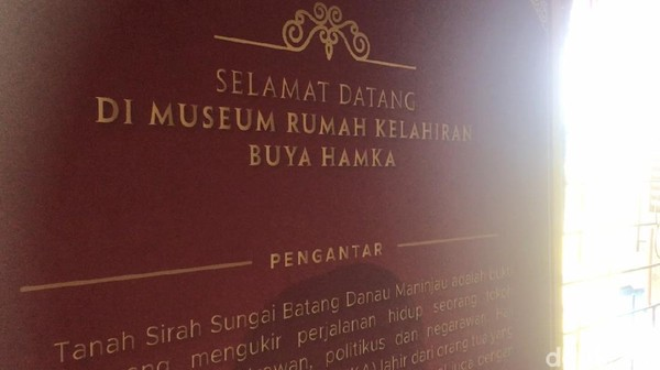Kedatangan Sandiaga ke Museum Buya Hamka itu sekaligus untuk mengunjungi Kawasan Sungai Batang yang masuk dalam daftar 50 nominator Anugerah Desa Wisata Indonesia (ADWI) 2021.