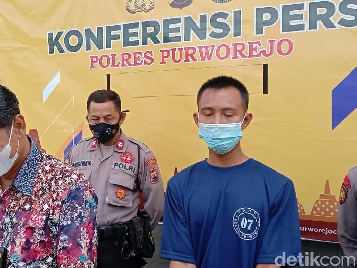 Pelaku begal payudara ditangkap di Purworejo, Jumat (3/9/2021).