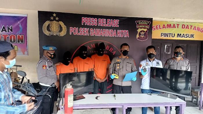 Polsek Samarinda Kota gelar konpers ungkap kasus pencurian