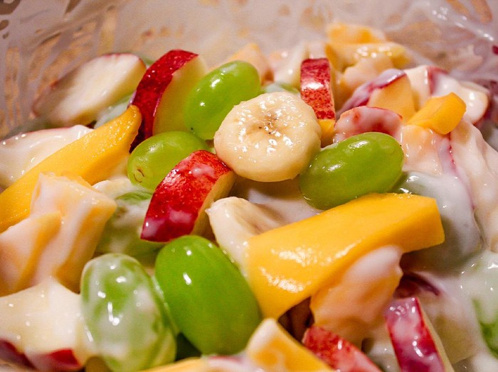 Resep Salad Buah Saus Yogurt