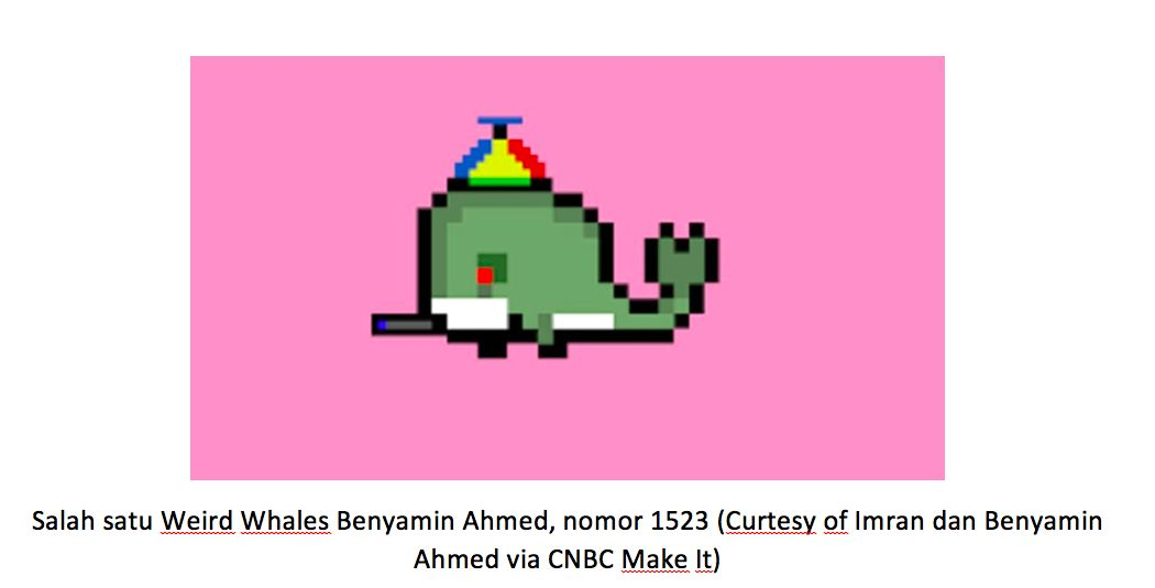 Salah satu Weird Whales Benyamin Ahmed, nomor 1523 (Curtesy of Imran dan Benyamin Ahmed via CNBC Make It)