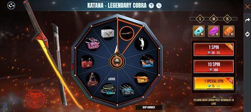 Free Fire Suguhkan Skin Katana Legendary Cobra, Dapatkan Sekarang Juga