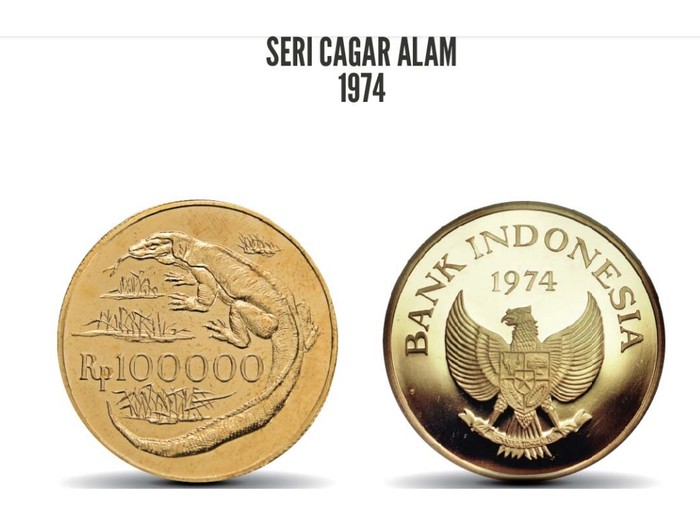 Uang rupiah logam biasanya dibuat dengan bahan kuningan, aluminium sampai perak. Tapi Bank Indonesia juga punya lho uang logam rupiah berbahan emas.