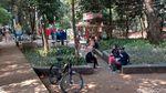 Meski Belum Dibuka, Taman di Kota Bandung Ramai Pengunjung