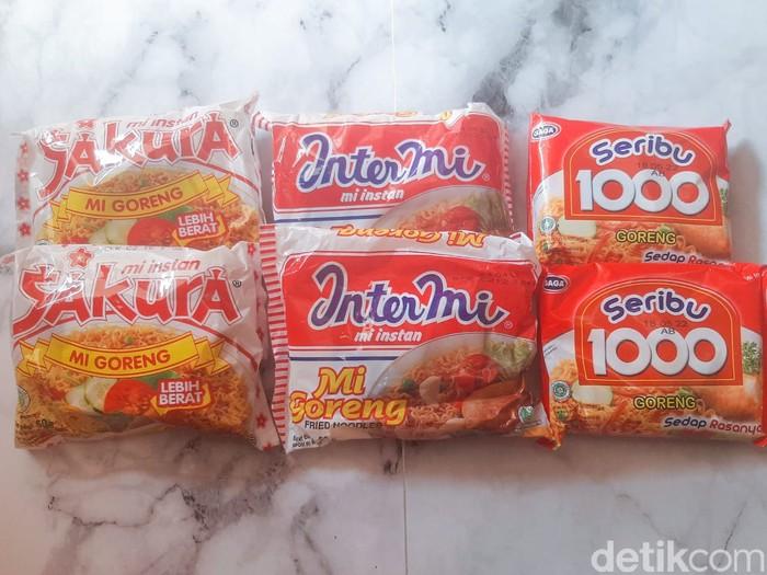 Mie Instan Harga Rp 1.000-an di Indonesia. Ada 3 Merek Mie Instan yaitu Sakura, Intermi, dan GAGA 1000.