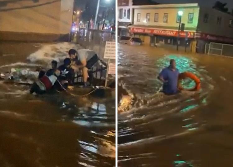 Potret viral banjir New York