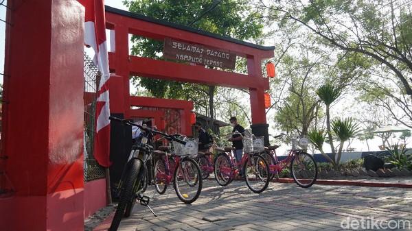 Pu;lau Untung Jawa memiliki satu spot bernuansa Jepang. (Femi Diah/detikcom)