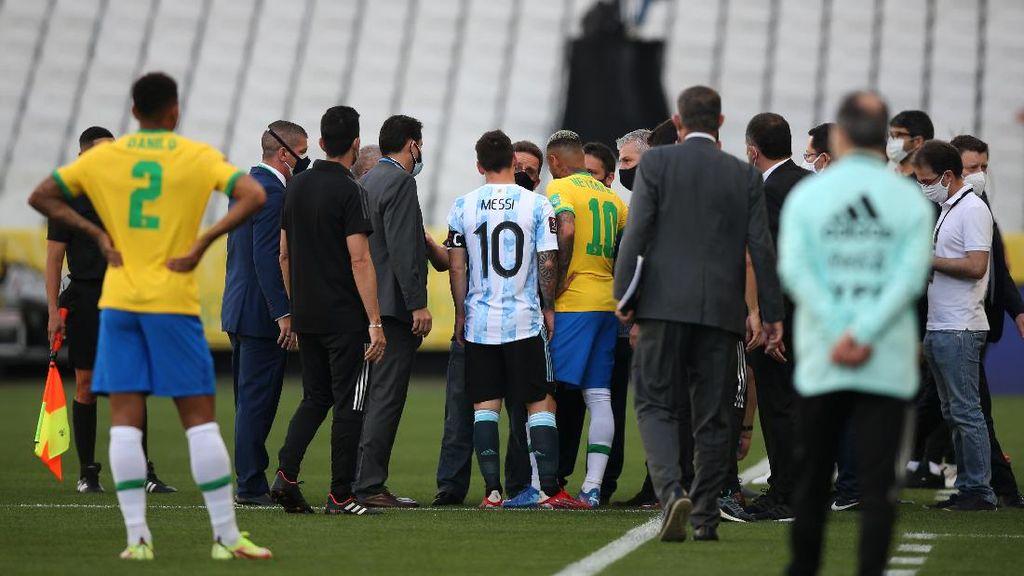 Saat Laga Brasil Vs Argentina Dibubarkan Otoritas Kesehatan