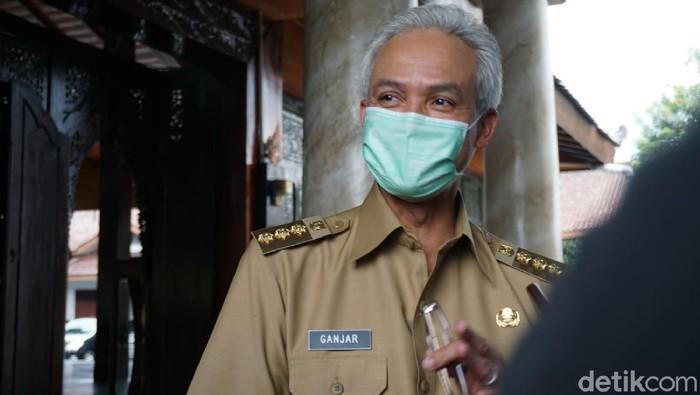 Gubernur Jateng Ganjar Pranowo di Banjarnegara, Senin (6/9/2021).