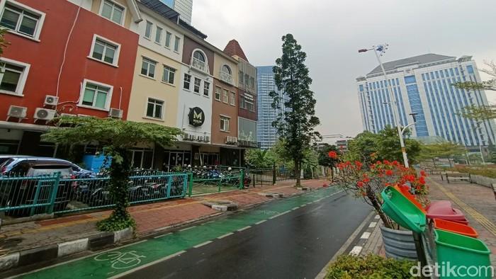 Kawasan Puri Indah Jakarta Barat yang dijadikan lokasi senam.