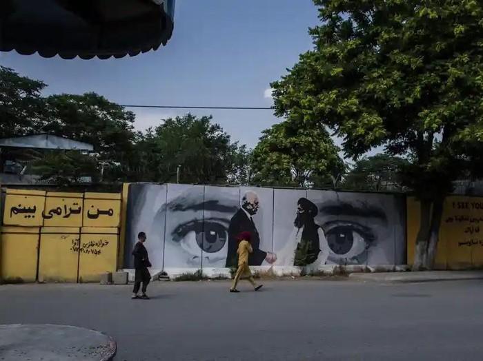 Mural di kota Kabul, Afghanistan