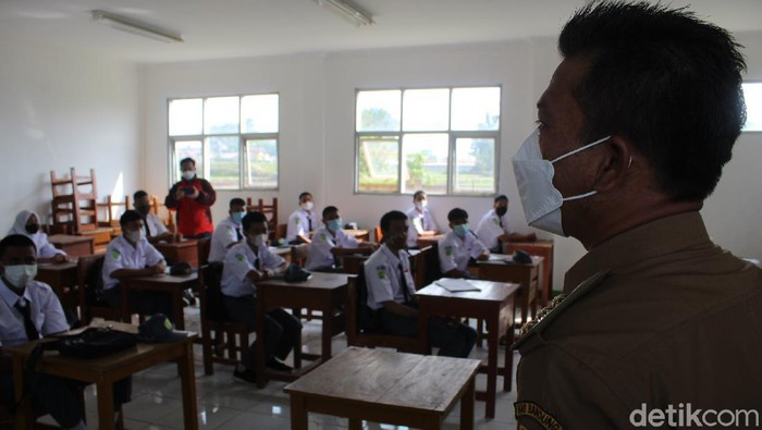 Pembelajaran tatap muka terbatas di Kabupaten Bandung
