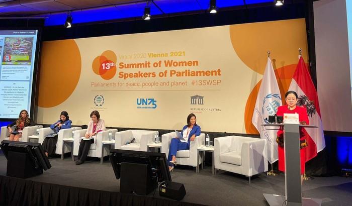 Ketua DPR RI Puan Maharani melakukan kunjungan kerja ke Wina, Austria. Puan menjadi salah satu panelis dalam 13th Summit of Women Speakers of Parliament.