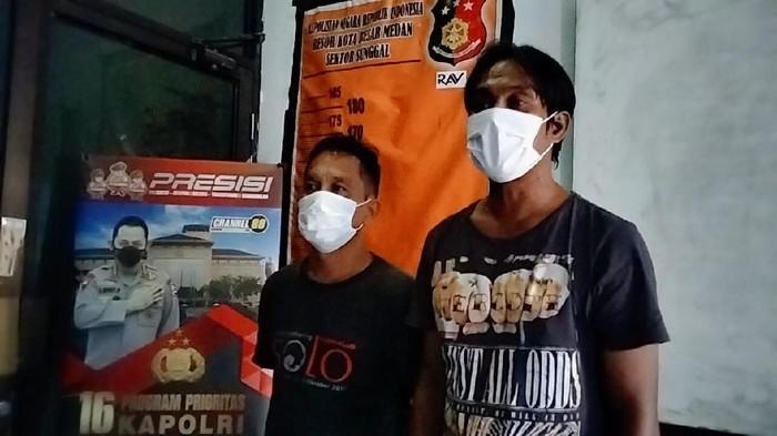 2 Preman palak pedagang buah berujung ditangkap polisi (dok. Istimewa)