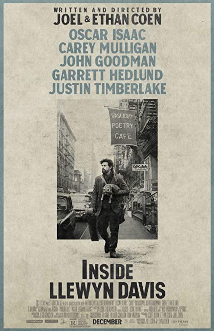 Film Inside Llewyn Davis yang berkisah tentang musisi Llewyn Davis.