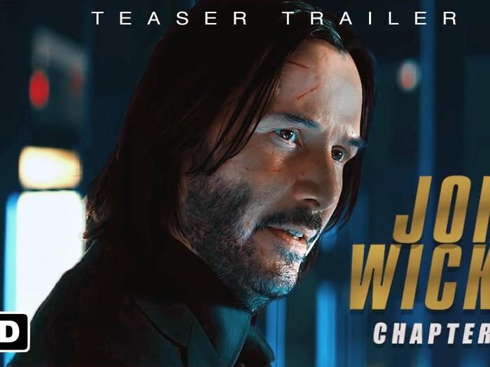 Keanu Reeves di John Wick 4.