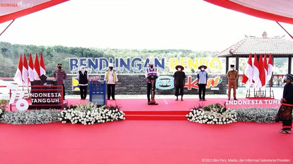 Jokowi Resmikan Bendungan Bendo di Ponorogo Jatim