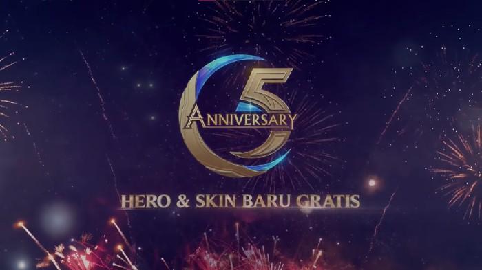 Mobile Legends Bagi-bagi Hero dan Skin Gratis Sambut Ulang Tahun ke 5