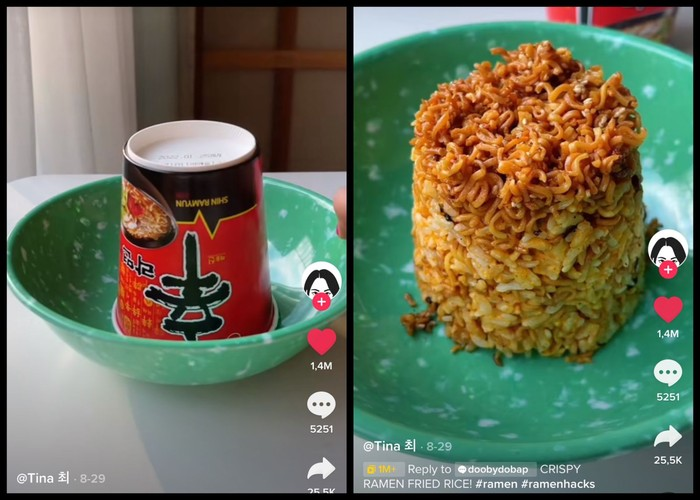 Viral Netizen Korea Bikin Nasi Goreng Campur Mie, Netizen Indonesia: Namanya Mawut