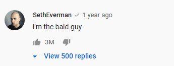 Komentar yang paling banyak disukai di YouTube mencapai 3 juta likes.
