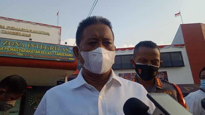 Dirkrimum Polda Metro Jaya Kombes Tubagus Ade Hidayat menduga ada tindak pidana terkait kebakaran Lapas Kelas I Tangerang, Rabu (8/9/2021).