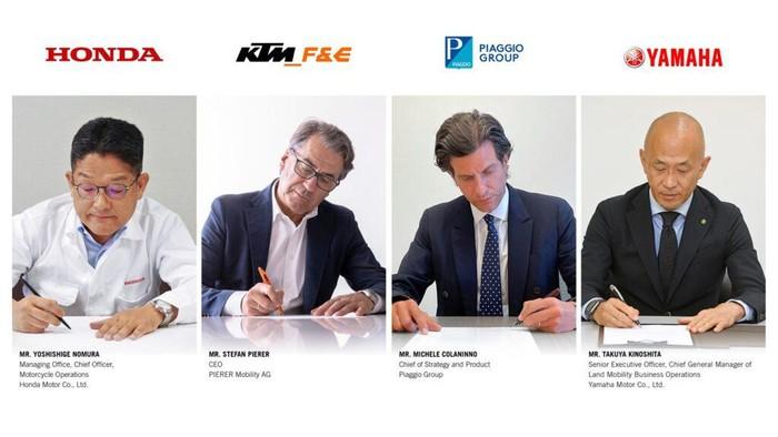 Honda, KTM, Piaggio Group, dan Yamaha sepakat bikin konsorsium baterai