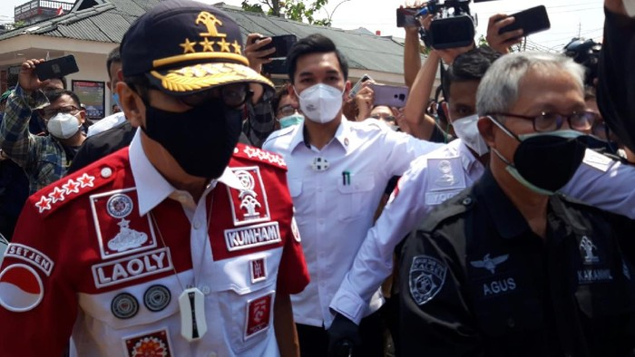 Menkum HAM Yasonna Laoly datangi Lapas Kelas 1 Tangerang usai kebakaran maut