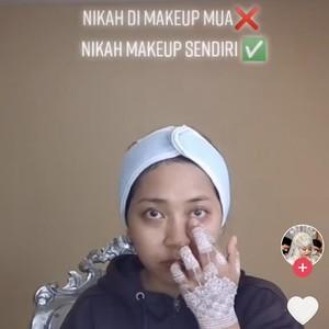 Viral Kisah Pengantin Irit, Makeup Sendiri, Hasilnya Bikin Terkejut