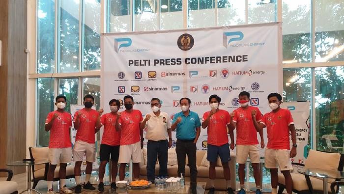 PP Pelti Lepas Tim Davis Indonesia di rumah Djan Faridz, Selasa (7/9/2021) siang WIB