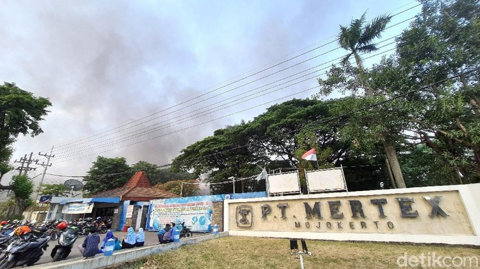 pt mertex terbakar